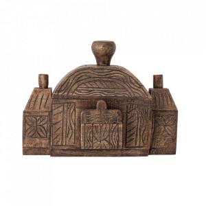 Decoratiune maro din lemn de mango 25 cm Margo Creative Collection