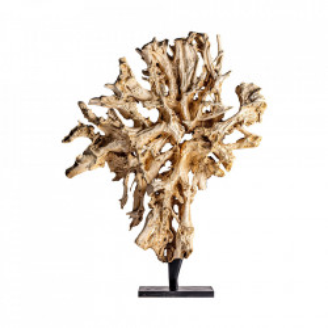 Decoratiune maro/neagra din lemn de tec si fier 220 cm Peter Vical Home