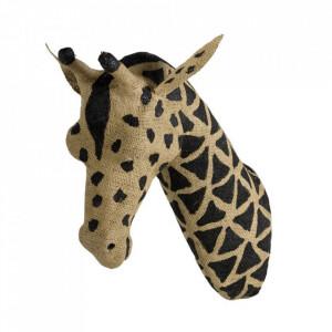 Decoratiune maro/neagra din panza de iuta pentru perete 13x37 cm Giraffe Quax