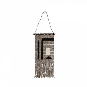 Decoratiune multicolora din lemn si lana pentru perete 30x40 cm Sade Medium LifeStyle Home Collection
