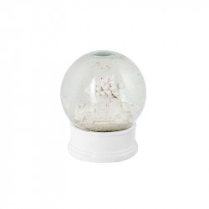 Decoratiune muzicala alba din sticla si polirasina 13 cm Noel LifeStyle Home Collection