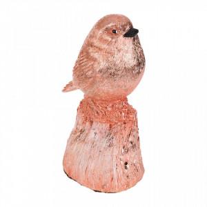 Decoratiune muzicala roz din rasina Singing Bird XXL Pols Potten