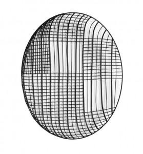Decoratiune neagra din metal pentru perete 40 cm Carisa La Forma