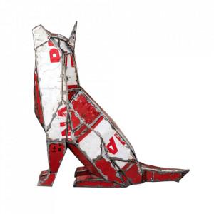 Decoratiune rosie/alba din metal 82 cm Wolf Versmissen