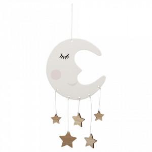 Decoratiune suspendabila din ceramica si lemn Mobile Moon  Bloomingville