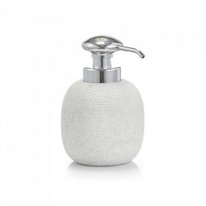 Dispenser gri/argintiu din polirasina 500 ml Living Soap Zeller