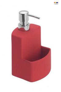 Dispenser rosu din ceramica 380 ml True Colors Festival Red Wenko