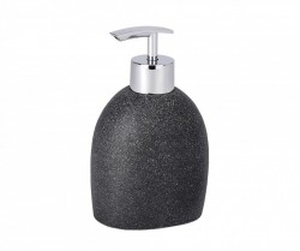 Dispenser sapun lichid negru din rasina 295 ml Puro Wenko
