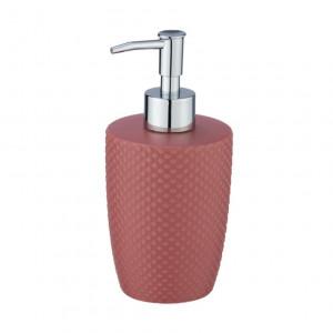 Dispenser sapun lichid roz din ceramica 380 ml Punto Wenko