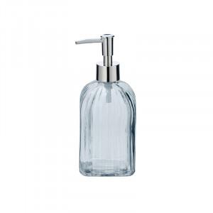 Dispenser transparent/argintiu din sticla 520 ml Vetro Wenko