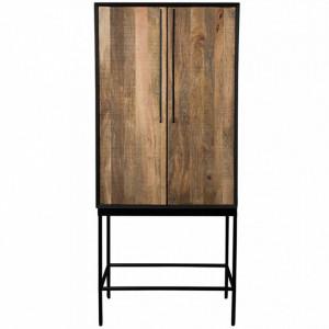 Dulap maro/negru din lemn si metal 160 cm Nairobi Dutchbone