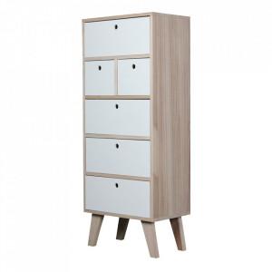 Dulapior alb/maro din lemn Boreal Opjet Paris