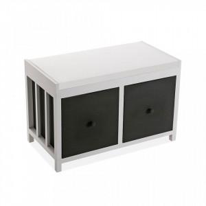 Dulapior alb/negru din lemn Bathroom Cabinet Two Versa Home