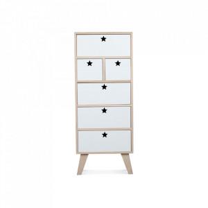 Dulapior maro/alb din lemn si placaj Star Weekboard White Opjet Paris