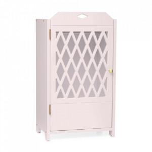 Dulapior roz pentru papusi din MDF Harlequin Vintage Rose Cam Cam