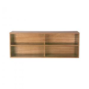 Etajera maro din placaj si lemn de sungkai 36 cm Carla A HK Living