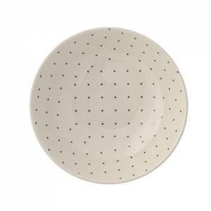 Farfurie adanca alba din ceramica 19 cm Fanniy Bloomingville