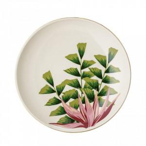Farfurie alba din ceramica 16 cm Bloomingville