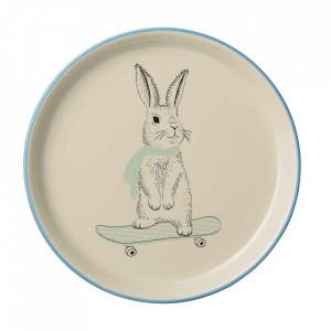 Farfurie alba din ceramica 25 cm Marius Bloomingville