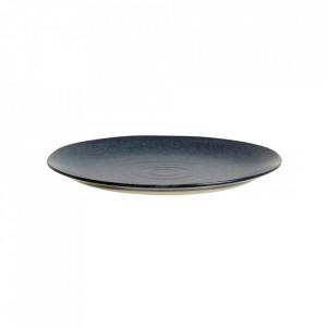 Farfurie albastra din ceramica 21 cm Grainy Plate Nordal