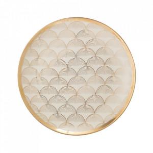 Farfurie aurie din ceramica 25 cm Aruba Bloomingville