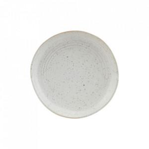 Farfurie intinsa pentru deserturi gri/alba din portelan 16,5 cm Pion House Doctor