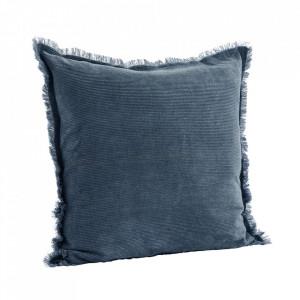 Fata de perna albastra din bumbac 50x50 cm Clair Madam Stoltz