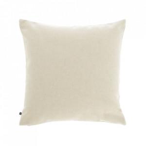 Fata de perna bej din fibre acrilice si in 45x45 cm Nedra La Forma