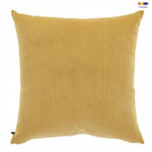 Fata de perna galben mustar din textil 60x60 cm Namie La Forma