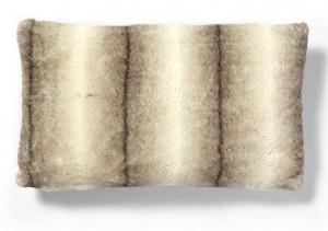 Fata de perna maro/crem din blana artificiala 30x50 cm Contact La Forma