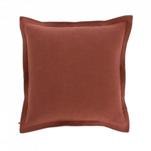 Fata de perna maro din textil 60x60 cm Maelina La Forma