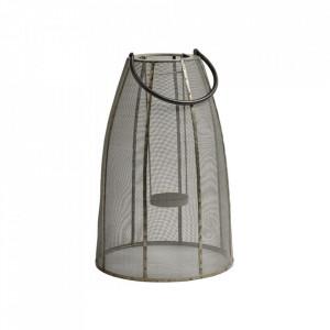 Felinar gri/negru din fier 47 cm Iron Lantern Large Nordal