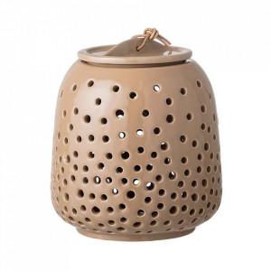 Felinar maro din ceramica 17 cm Tapos Bloomingville