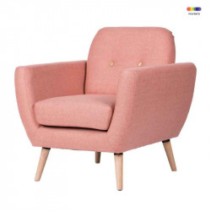 Fotoliu roz din lemn de pin si poliester Istambul Pink Somcasa