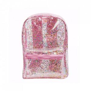 Ghiozdan multicolor din poliester Glitter A Little Lovely Company