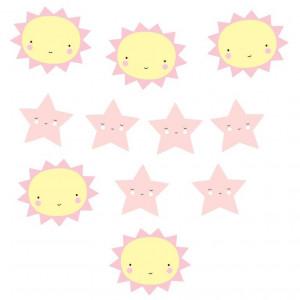 Ghirlanda decorativa multicolora din hartie Miss Sunshine A Little Lovely Company