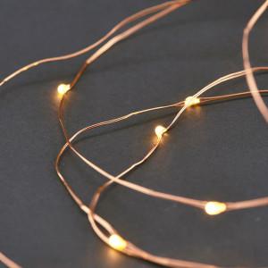 Ghirlanda luminoasa cupru cu 80 LED-uri String 10 m House Doctor