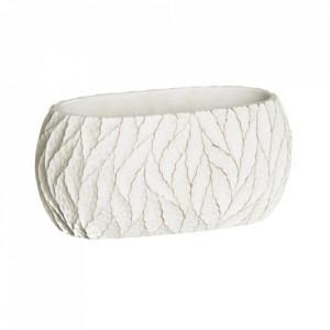 Ghiveci alb din ciment 13,5x25 cm Ethopa Ixia