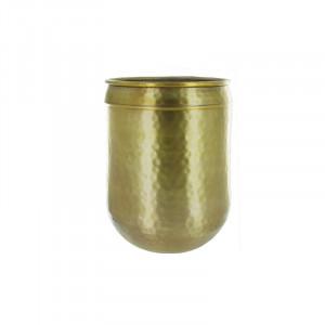Ghiveci auriu din aluminiu 30 cm Bozhidar Lifestyle Home Collection