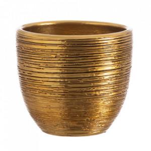 Ghiveci auriu din ceramica 20 cm Ipuy Ixia