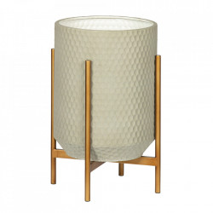 Ghiveci cu suport gri/auriu din fier si beton 50 cm Juul Woood