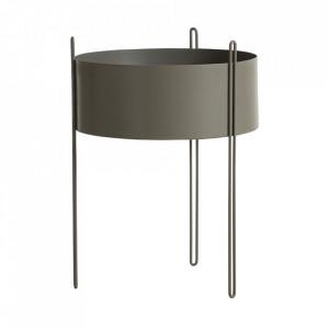Ghiveci grej din metal 40 cm Pidestall Woud