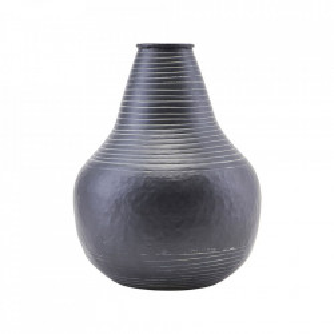 Ghiveci negru din aluminiu 30 cm Stribe House Doctor