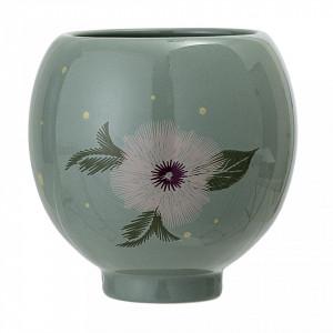 Ghiveci verde din ceramica 12 cm Flower Bloomingville
