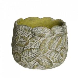 Ghiveci verde din ciment 21,5 cm Usakos Ixia