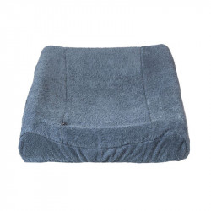 Husa albastra din bumbac pentru salteaua de infasat 50x70 cm Daria Quax