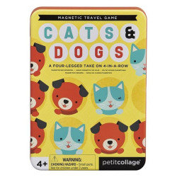 Joc magnetic 48 de piese Cats and Dogs Petit Collage