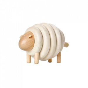 Jucarie maro din lemn Lacing Sheep Plan Toys