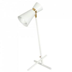 Lampa birou alba/aurie din metal 64 cm Kedar Aldex