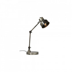 Lampa birou din metal 66 cm Hector Antique Silver Woood